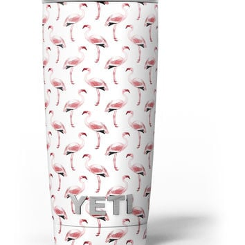 The All Over Pink Flamingo Pattern Yeti Rambler Skin Kit