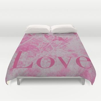 Love Me! Duvet Cover by Stacy Frett