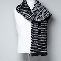 TWO-TONE KNITTED SCARF - Scarves and Foulards - Accessories - Man - ZARA United States
