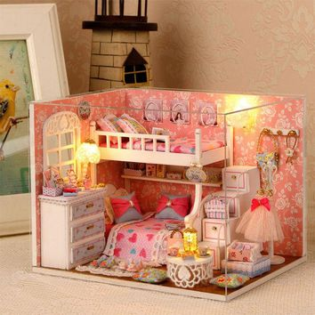 DCCKL72 Handmade Doll House Furniture Miniatura Diy Doll Houses Miniature Dollhouse Wooden Toys For Children Grownups Birthday Gift H06