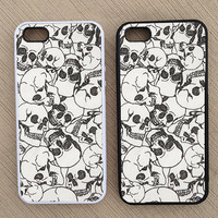 Cute Hipster Skulls Skull Pattern iPhone Case, iPhone 5 Case, iPhone 4S Case, iPhone 4 Case - SKU: 189