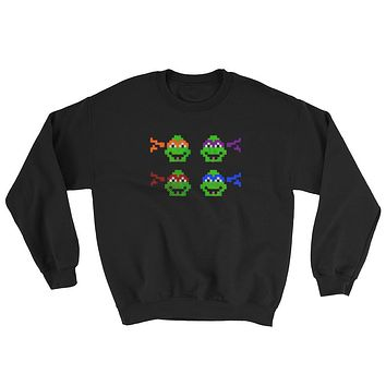 Ninja Turtles Perler Art Sweatshirt by Aubrey Silva