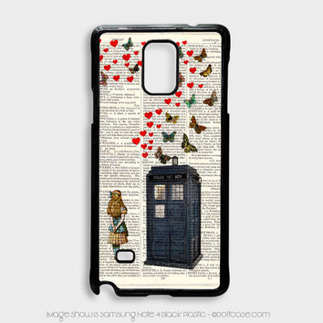 alice in tardis dr Who Samsung Note 4 Case, Samsung Cases
