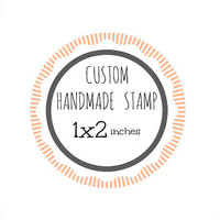 Custom Stamp - Custom Logo Stamp - Custom Rubber Stamp - Branding Stamp 1x2 inches