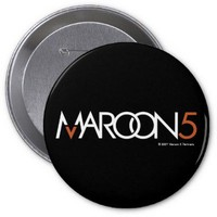 Maroon 5 Logo on Black Button from Zazzle.com