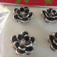 Decorative Crystal Bead Flower Tacks, Co-Worker Gifts, Office Sparkle