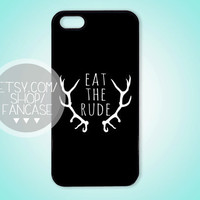 Eat the Rude Hannibal NBC Fannibal iPhone 4 4s 5 Case Will Graham Quote Hugh Dancy Mads Mikkelsen