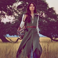 Free People Jenna Leigh Army Dress