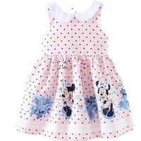 Kids Dresses for Girls 2017 New Summer Pink Minnie Mouse Girls Dresses Sleeveless A-Line Toddler Children's Dress Girls Clothes
