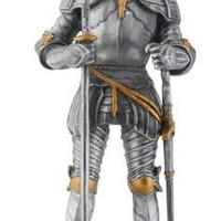 Italian Knight with Axe and Sword Statue on Base 9H
