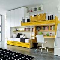 Fitted bedroom set for boys Z017 by Zalf
