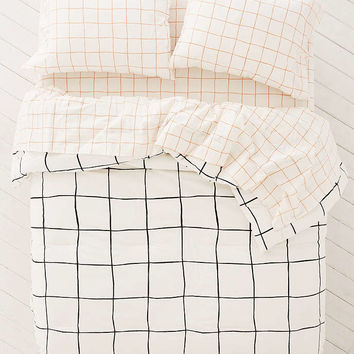 Wonky Grid Comforter Snooze Set - Urban Outfitters