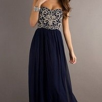 Navy Beaded Cocktail/Evening/Prom Dress/Formal/Party/Ballgown/Sz 6 8 10 12 14 16