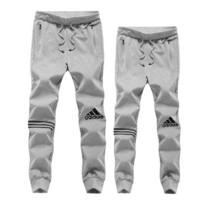 ADIDAS Fashion Unisex Drawstring Logo Print Pants Trousers Sweatpants Exercise Gym Sport Pants Grey I