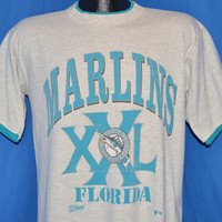 90s Florida Marlins Roll Up Sleeves t-shirt Medium