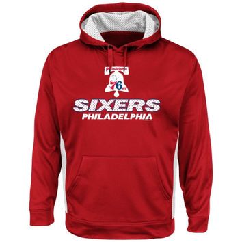 Majestic Philadelphia 76ers Hardwood Classic Point Guard Invasion Pullover Hoodie - Red