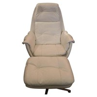 Pre-owned Overman Egg Form Swiveling Lounge Chair & Ottoman