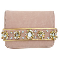 Nude Embellished Strap Clutch - Accessories - New In