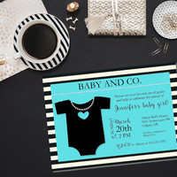 Baby and Co baby shower/ Baby Co Shower Invitation/ Printable girl baby shower/ Printable baby shower invite/ Printable invitation