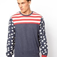 River Island | River Island Lounge T-Shirt with Stars & Stripes at ASOS