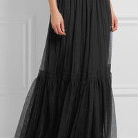 Needle & Thread - Lace-trimmed tulle maxi skirt