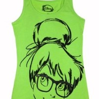 Disney Juniors Tinkerbell Hipster Tank-top Large Neon Green