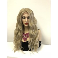 "Blonde Waves Lace front Wig 24"" e30"