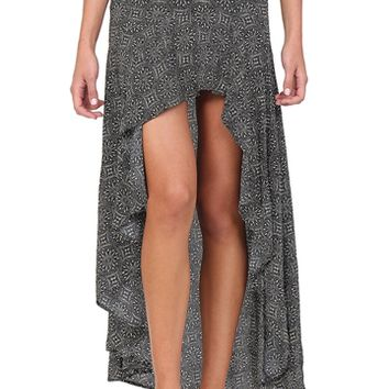 Black & Ivory Printed Skirt at Blush Boutique Miami - ShopBlush.com : Blush Boutique Miami – ShopBlush.com