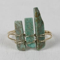 Wire-Wrapped Stone Bars Bracelet