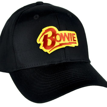 David Bowie Lighting Bolt Hat Baseball Cap Alternative Clothing Ziggy Stardust