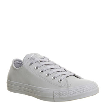 Converse All Star Low Leather Ash Grey Pure Silver Snake Exclusive - Unisex Sports
