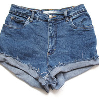 High waist shorts M by deathdiscolovesyou on Etsy