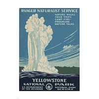 YELLOWSTONE national park VINTAGE TRAVEL POSTER 24X36 giant GEYSER Hot New - QW0