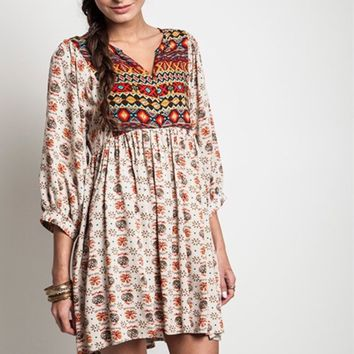 Women's Boho Peasant Tunic/Dress/Boutique/Babydoll Dress