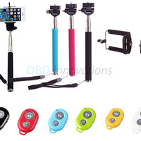 Selfie Stick Monopod + Bluetooth Shutter Remote Key Chain