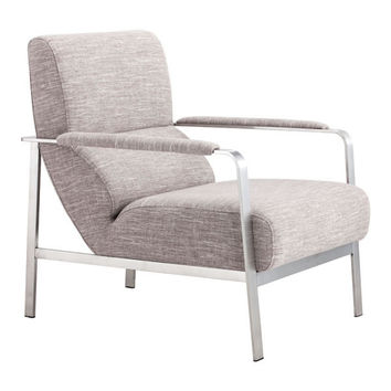 Jonkoping Arm Chair Wheat Brushed Stainless Steel