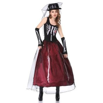 Umorden Halloween Skeleton Witch Corpse Ghost Bride Costumes Wom a0ba4dc83e0b