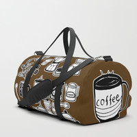 Coffee Doodles Duffle Bag by Shashira Handmaker