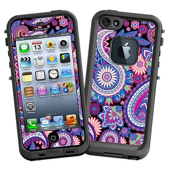 Brilliant Jewel Tone Paisley Skin  for the iPhone 5 Lifeproof Case by skinzy.com