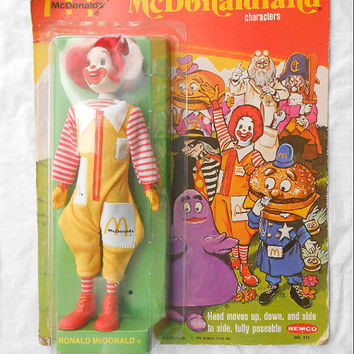 1976 Remco Ronald McDonald Figurine in Original by hungrycats
