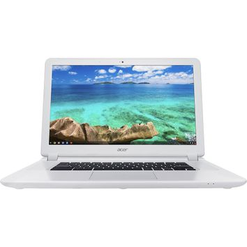 "Acer - 15.6"" Chromebook - Intel Celeron - 2GB Memory - 16GB Solid State Drive - Linen White"