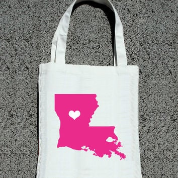 Destination State or Country Simple + Sweet Heart Tote - Wedding Welcome Tote Bag
