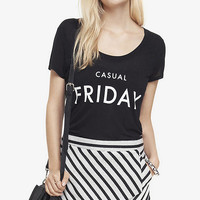 SCOOP NECK GRAPHIC TEE - CASUAL FRIDAY from EXPRESS