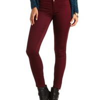 "Refuge ""Hi-Waist Super Skinny"" Colored Jeans - Wine"