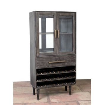 Arboga 2 Door / 1 Drawer Large Wine Cabinet by Home Accents Gallery WC1002