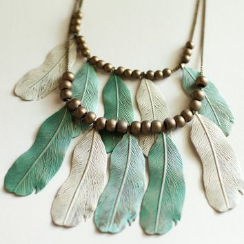 Feather Bib Necklace