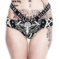 Black Mass Cut-Out Bikini Panty [B]