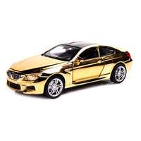 M6 Shining Cover 1:32 Diecast Alloy Metal Car Vehicles Model Christmas Birthday Gift for Children Boy Collection Toy