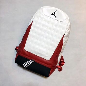 Air Jordan Retro 13 He Got The Game Black White Red Backpack - Best Deal Online