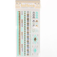 With Love From CA String & Free Flash Tattoos - Womens Scarves - Gold - NOSZ